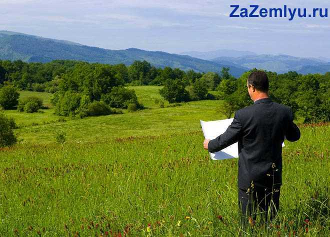 Бизнесмен стоит с картой в поле