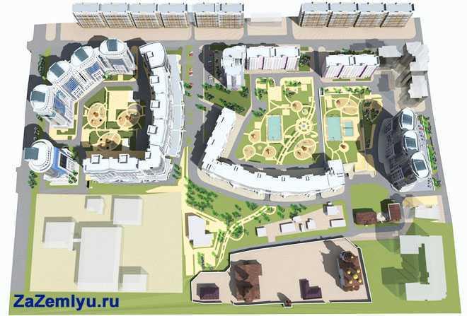 План жилого комплекса