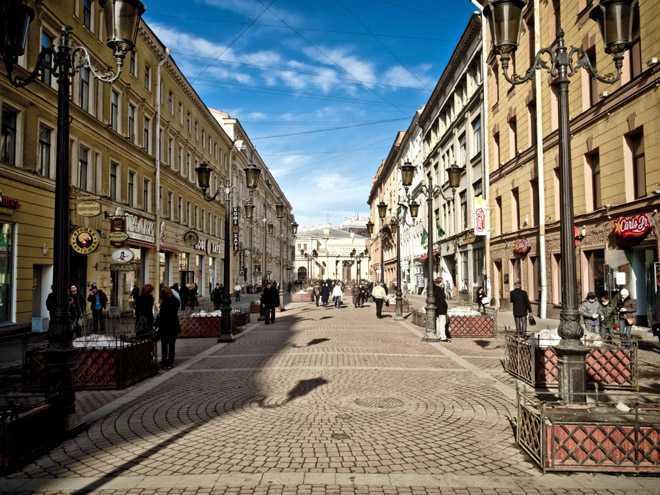 Пешеходная зона в городе