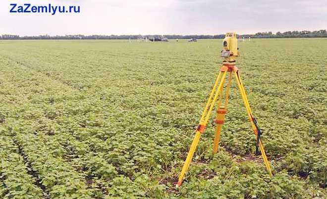 Измерительный прибор в поле