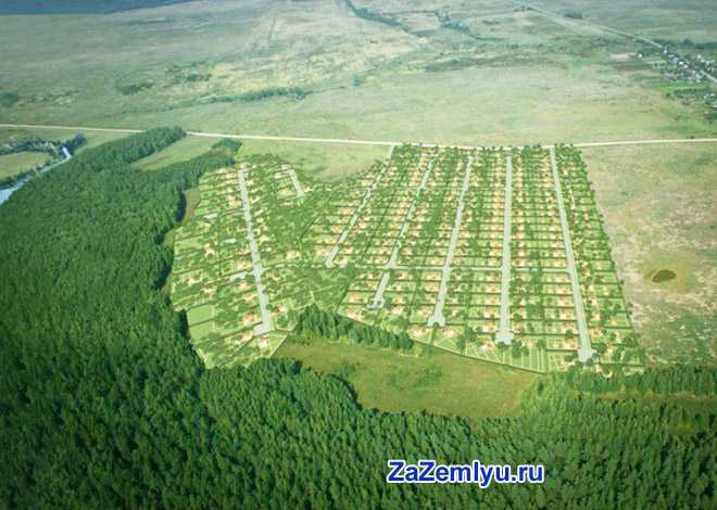 Участок земли в поле