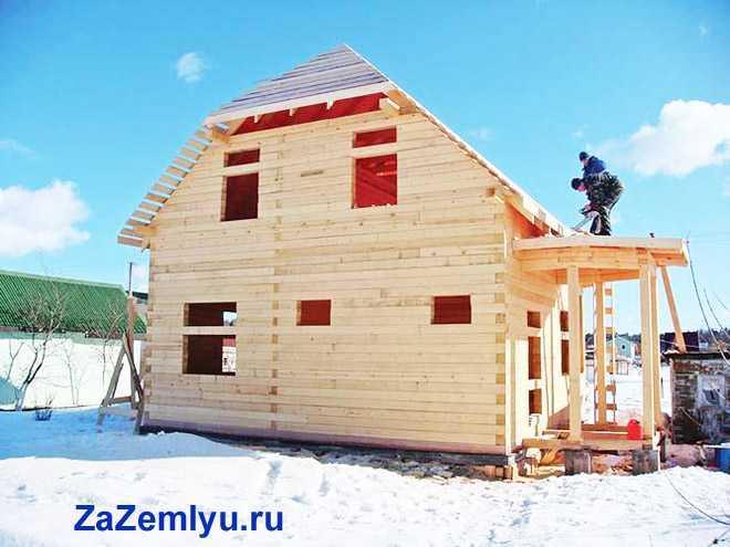 Стройка деревянного дома