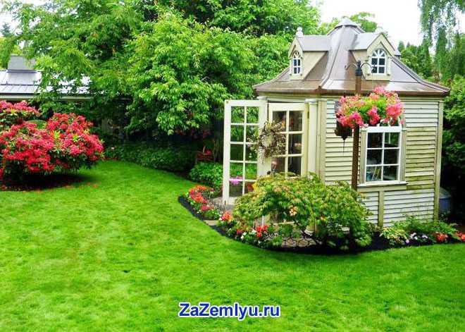 Дачный дом, огород