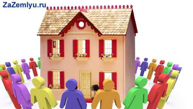 Вокруг дома разноцветные человечки