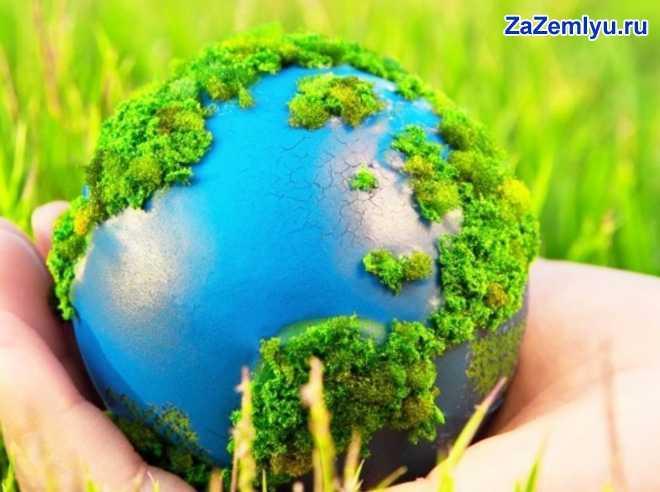 Земной шар на ладони человека