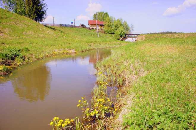Пруд рядом с деревней
