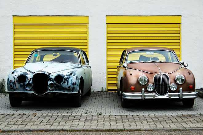 Раритетные машины, гараж
