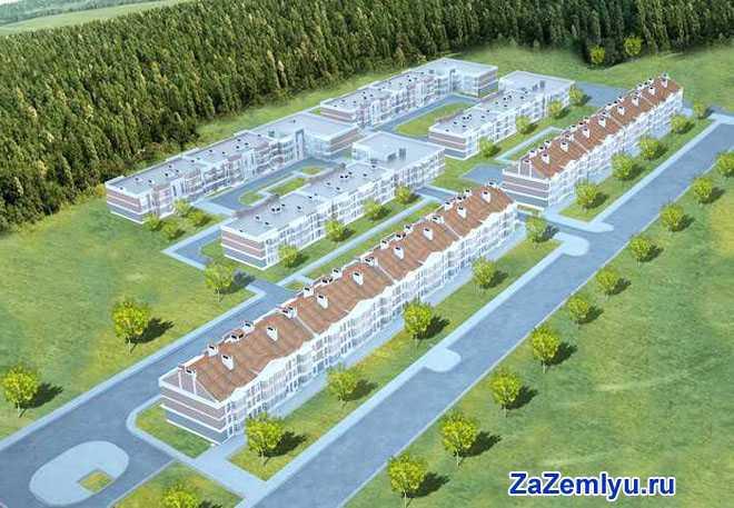 План-макет жилых домов
