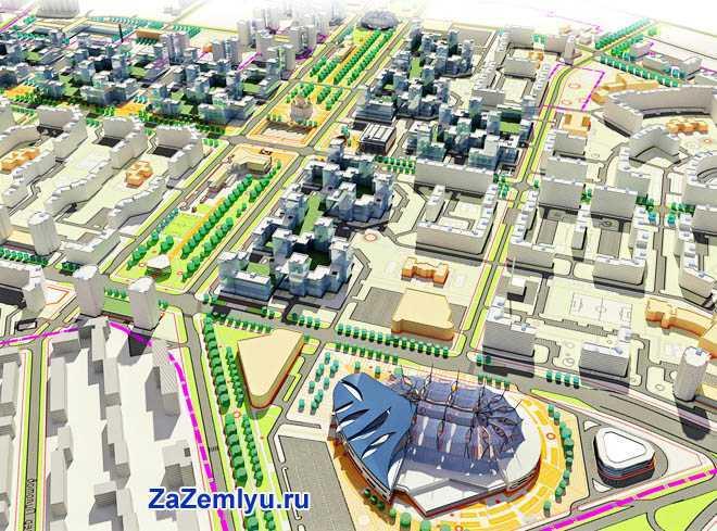План-макет квартала города