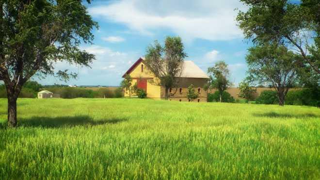 Желтый дом с участком