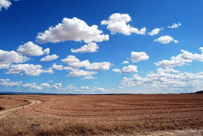 Облака в небе, поле