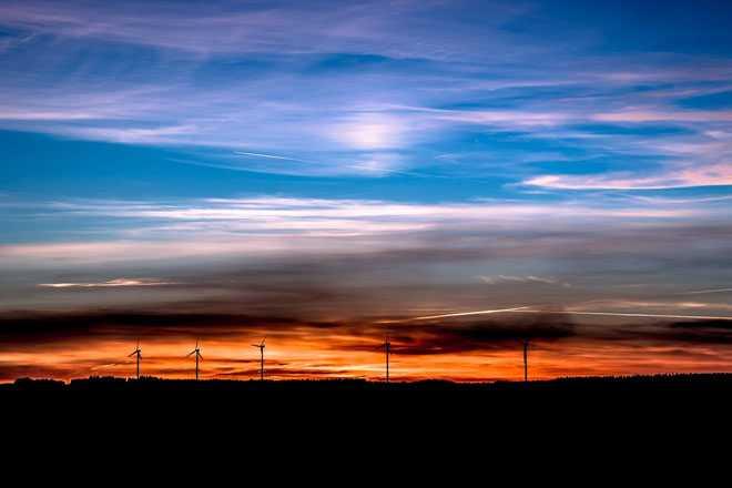 Ветряные мельницы, закат