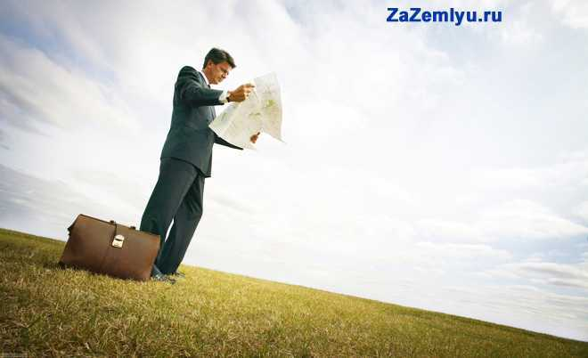Бизнесмен стоит в поле и читает документацию
