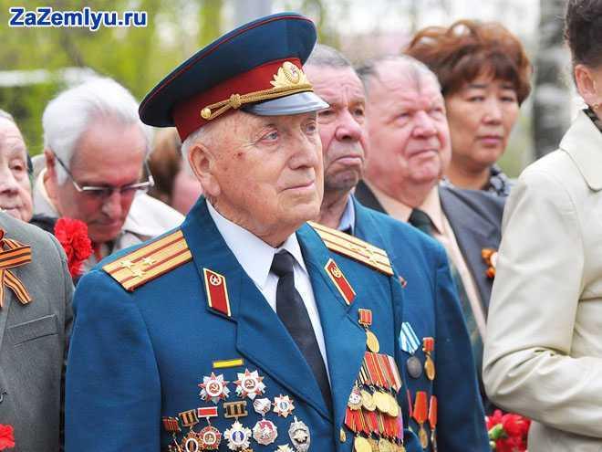 Ветеран ВОВ на митинге