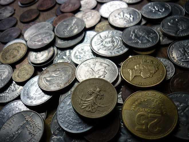 Монеты россыпью