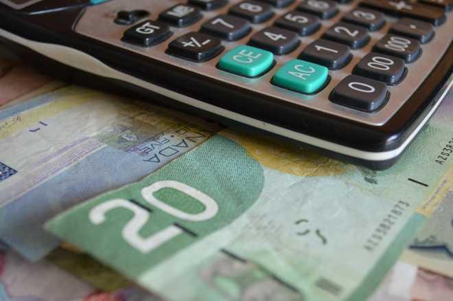 Калькулятор, денежная купюра 20 евро