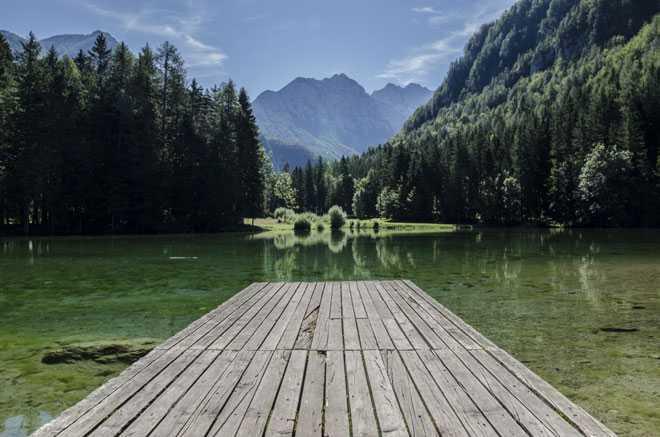 Пирс, озеро, природа