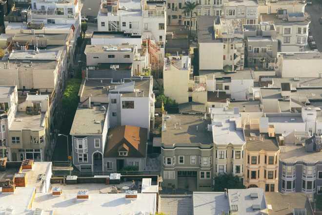 Крыши городских зданий